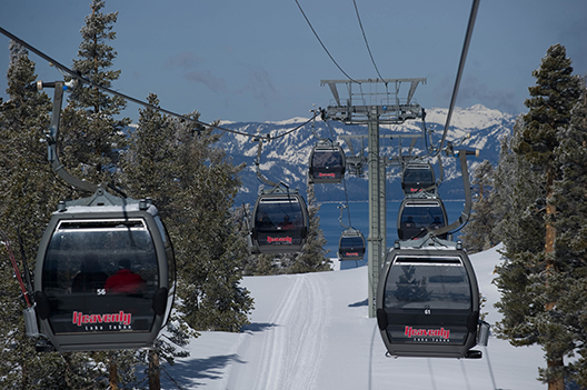Best Views of Gondolas: The views of Lake Tahoe from Heavenly Mountain Resort's gondola.