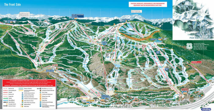 Top 10 Largest Ski Resorts In North America - Eastern-us-ski-resorts-map